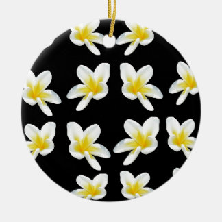 Frangipani_Flower_Sensation, _ Rond Keramisch Ornament