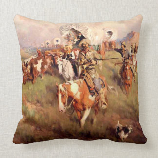 "Frank Tenney Johnson Western Art ""ooit westelijk "" Sierkussen"