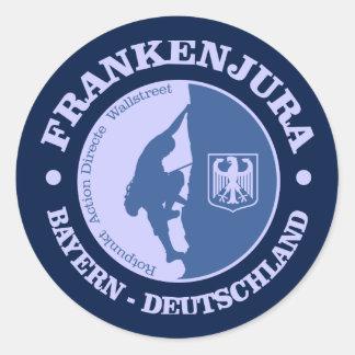Frankenjura (bergbeklimming) ronde sticker