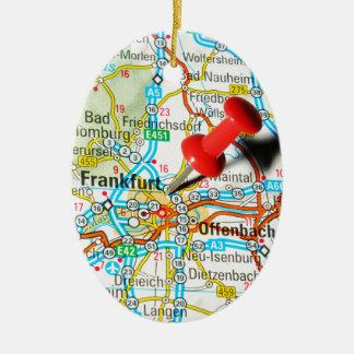Frankfurt, Duitsland Keramisch Ovaal Ornament
