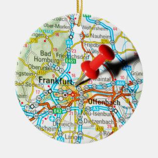 Frankfurt, Duitsland Rond Keramisch Ornament