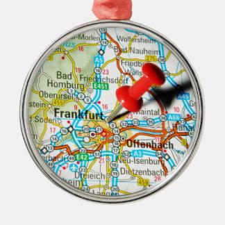 Frankfurt, Duitsland Zilverkleurig Rond Ornament