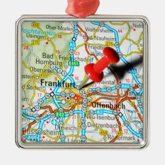 Frankfurt, Duitsland Zilverkleurig Vierkant Ornament