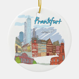 Frankfurt Rond Keramisch Ornament