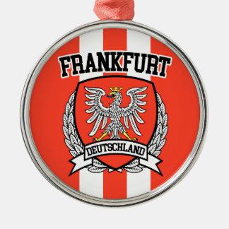 Frankfurt Zilverkleurig Rond Ornament