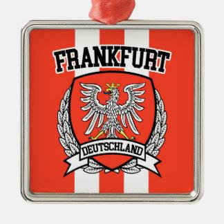 Frankfurt Zilverkleurig Vierkant Ornament