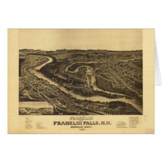 Franklin en Herfsten Franklin, Van Newhampshire Kaart