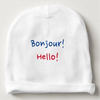 """Frans & Engels Baby: """"Bonjour!"""" en """"Hello! """" Baby Mutsje"""