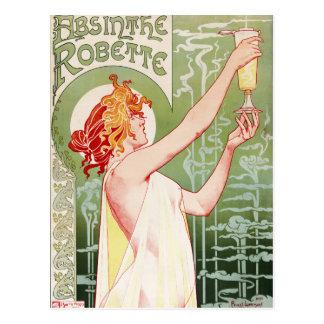 """Frans Jugendstilposter """"alsem Robette """" Briefkaart"""
