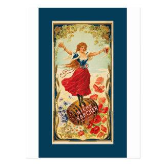Franse Barmaiden ~ Bière Karcher. 1900 Briefkaart
