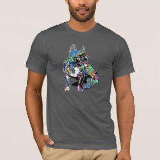 Franse buldog in graffitioverhemd t shirt
