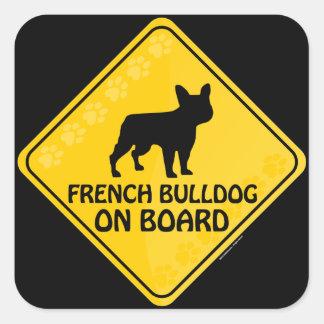 Franse Buldog Xing Vierkante Sticker