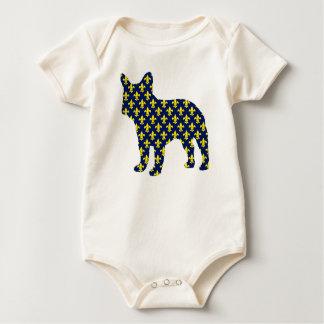 Franse Bulldog Fluer DE Lis Baby Shirt