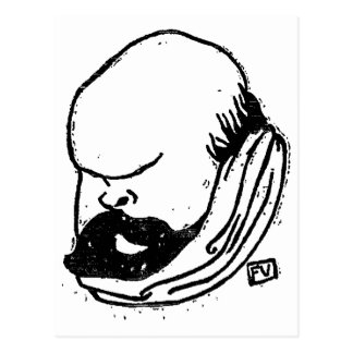 Franse dichter Paul Verlaine door Felix Vallotton Briefkaart