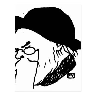 Franse dichter Paul Verlaine van Le Livre des Briefkaart