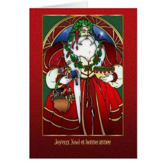 Franse Kerstkaart - de Kerstman - Joyeux Noël Briefkaarten 0