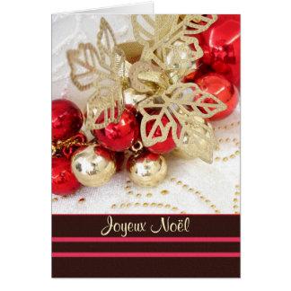 Franse Kerstmis van Noël van Joyeux - snuisterijen Wenskaart