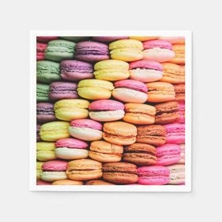 Franse macaron wegwerp servetten