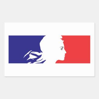 Franse Marianne Rechthoekige Sticker
