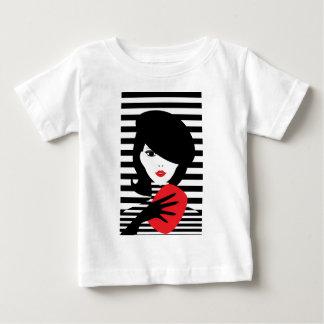 Franse modieuze de modeillustratie van de mode baby t shirts