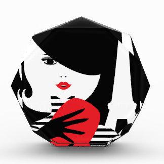 Franse modieuze de modeillustratie van de mode prijs