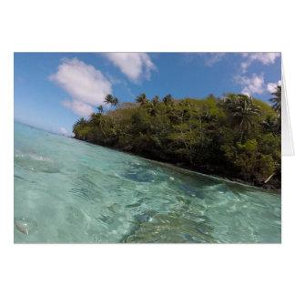 Franse Polynesia snorkelt Wenskaart