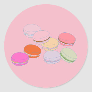 Franse Sticker Macaron