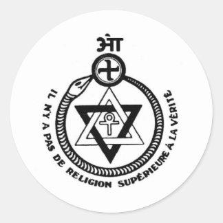 (Franse) Theosophie Ronde Sticker