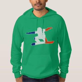 Franse Tricolor SNOWBOARDER (wht) Hoodie