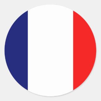 Franse Vlag Ronde Sticker