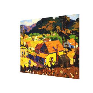 Franz Bischoff - Middag Idyl, Cambria Canvas Afdruk