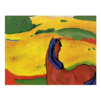 Franz Marc- Horse in een landschap Briefkaart