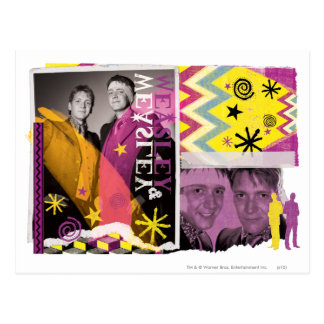 Fred en George Weasley Briefkaart