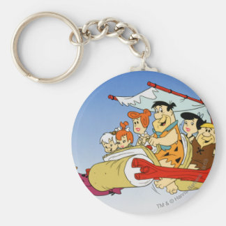 Fred Flintstone Wilma Barney en Betty PEBBLES™ Basic Ronde Button Sleutelhanger