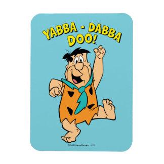 Fred Flintstone Yabba-Dabba Doo! Rechthoekige Magneten