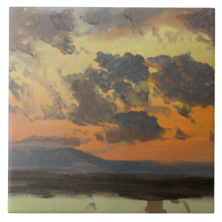 Frederic Edwin Church - Hemel bij Zonsondergang, Tegeltje Vierkant Large