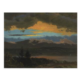 Frederic Edwin Church - Zonsondergang over Hudson Briefkaart
