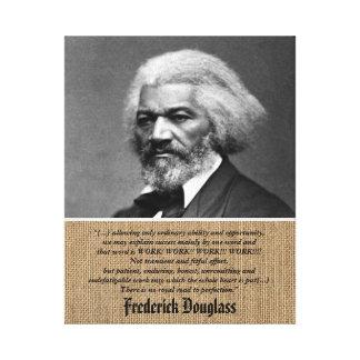 Frederick Douglass - Citaat over het Werk + Canvas Print