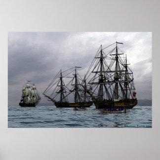 fregatten bij anker poster