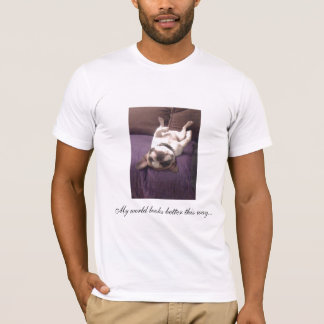 Frenchie op rug t shirt