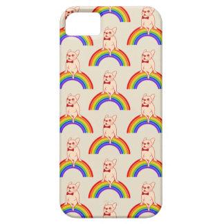 Frenchie viert de Maand van de Trots op regenboog Barely There iPhone 5 Hoesje