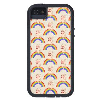Frenchie viert de Maand van de Trots op regenboog Tough Xtreme iPhone 5 Hoesje