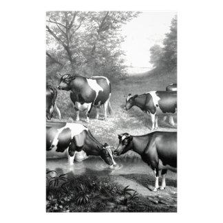 Fresian de koeien fresian koeien van Holstein Briefpapier
