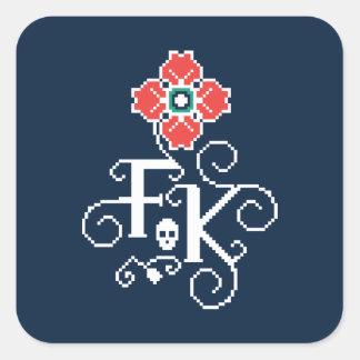 Frida Kahlo   BloemenHulde Vierkante Sticker