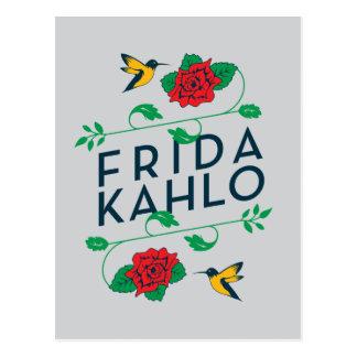 Frida Kahlo   BloemenTypografie Briefkaart