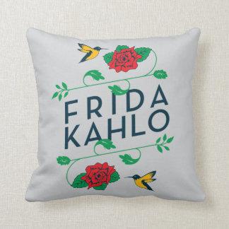 Frida Kahlo | BloemenTypografie Sierkussen