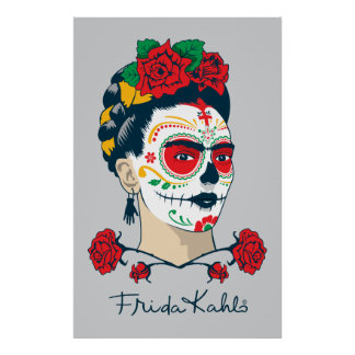 Frida Kahlo | Gr Día DE los Muertos Poster