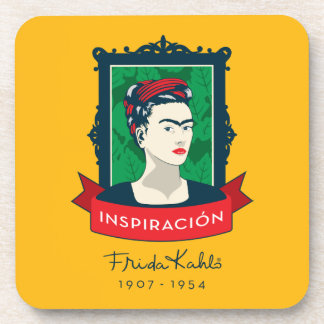 Frida Kahlo | Inspiración Bier Onderzetter