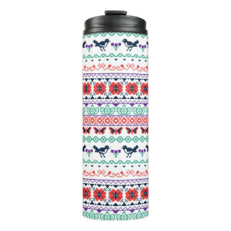 Frida Kahlo | Mexicaans Patroon Thermosbeker