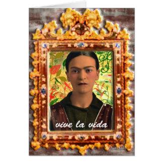 Frida Kahlo Reflejando Kaart